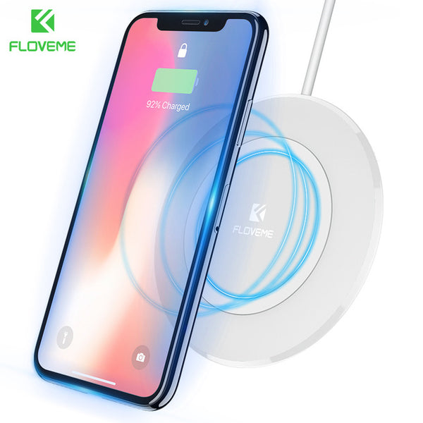 FLOVEME Wireless Charger For Samsung S8 S7 Edge Note 8 5 Qi Wireless Charger Pad For iPhone X 10 8 Plus Nokia 8 5 USB Chargers - Tokyo Fashion