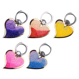 Glitter Phone Ring 360 Degree Finger Love Quicksand Liquid Phone Stand Heart Phone Ring Holder For iPhone Samsung etc.