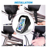 "Turata Universal Waterproof Bike Motorcycle Phone Holder Handlebar Bicycle Mobile Phone Holder For iphone Smartphone Within 6.0"" - Tokyo Fashion"