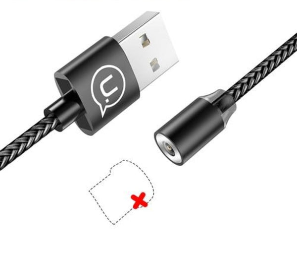 Magnetic Cable for iPhone 6 7 8 Samsung 2.1A Braided for Type-C Micro USB Cable 1m - Tokyo Fashion