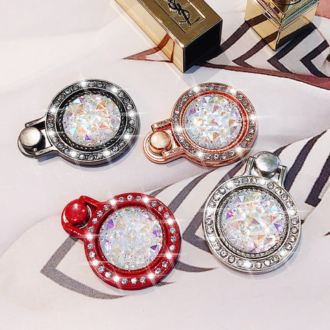 Rhinestone Round Cell Phone Ring Holder Stand For iPhone Samsung Huawei Metal Mount - Tokyo Fashion