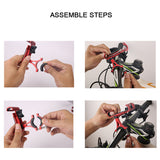 "Aluminium Alloy Bike Cell Phone Holder 3.5-6.5"" inches GPS Mount - Tokyo Fashion"