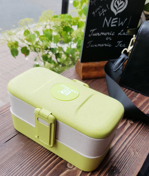 Wheat straw lunchbox (2 compartments)