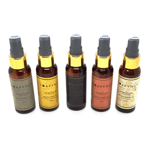 Set of 5 Fragrance & Essential Oil Infused Argan Oil