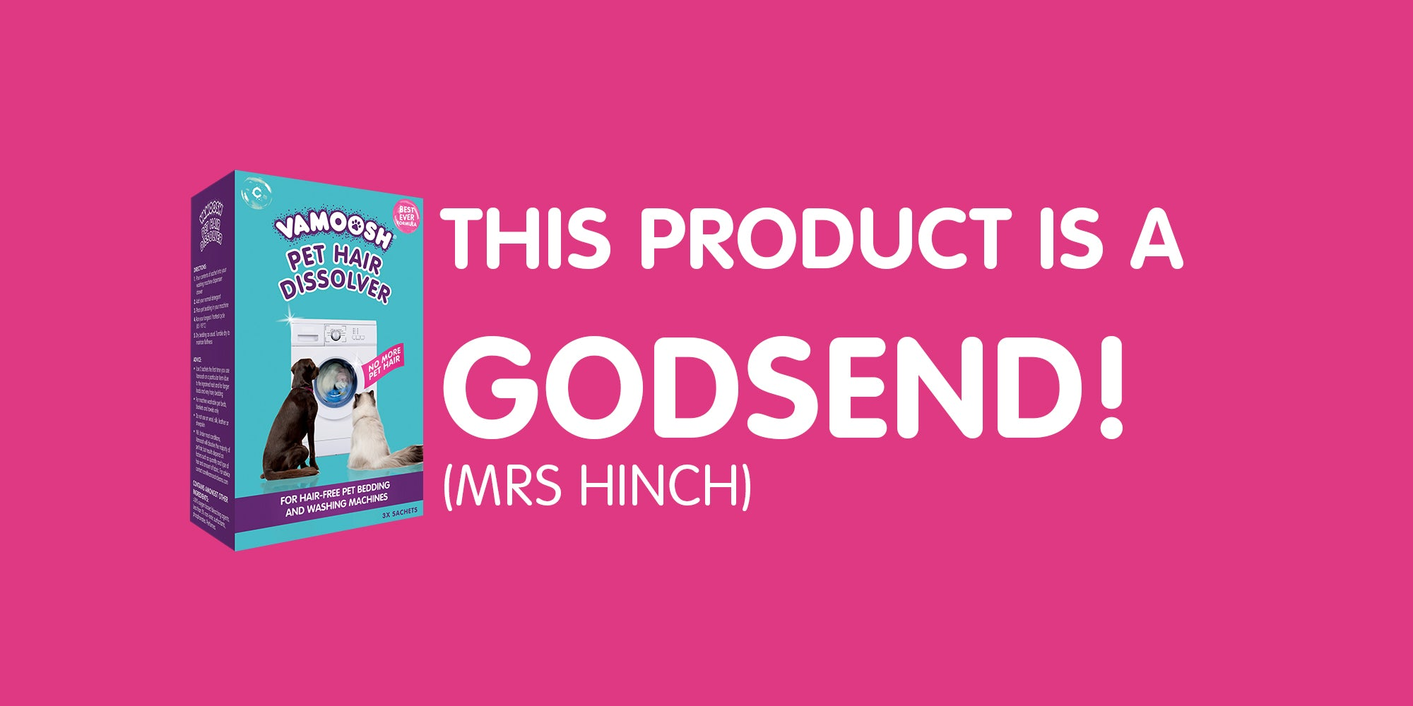 VAMOOSH 'is a godsend' - Mrs Hinch reviews Vamoosh Pet Hair Dissolver