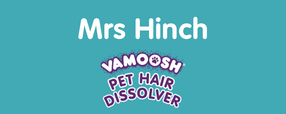 Mrs Hinch uses Vamoosh Pet Hair Dissolver to wash her dog's bedding in the washing machine