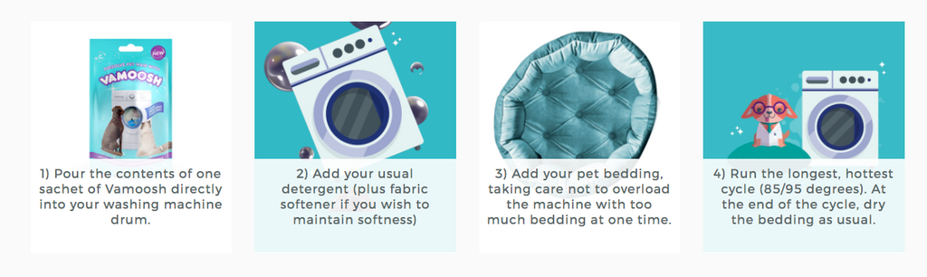 How to wash pet bedding in the washing machine