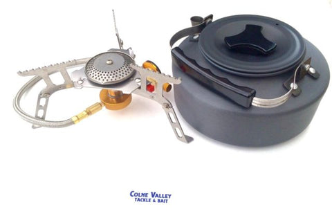 Hi Powered Stove With 1.1 Litre Anodised Kettle