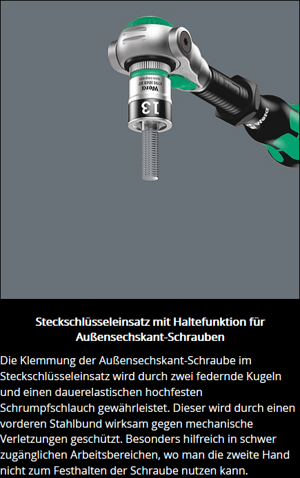 "Wera 8100 SA All-in Zyklop Speed-Knarrensatz, mit Haltefunktion, 1/4""-Antrieb, metrisch"