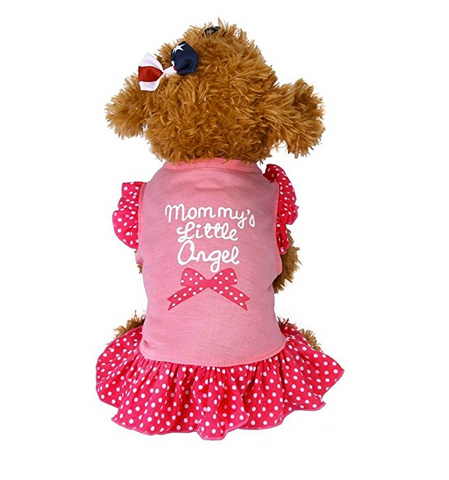 Pink DroolingDog Girl Dog Clothes Pink T Shirt Pet Sweater Dogs Shirts for Small Dogs Girl Large