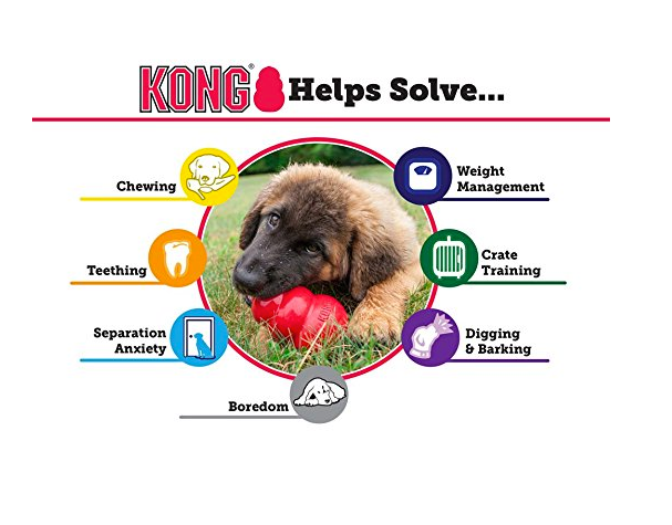 Classic Red Rubber Chew Toy for Dogs by Kong