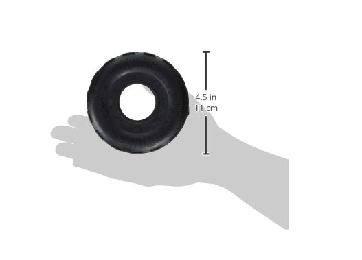 Tough Black Rubber Tire Dog Toy by Kong