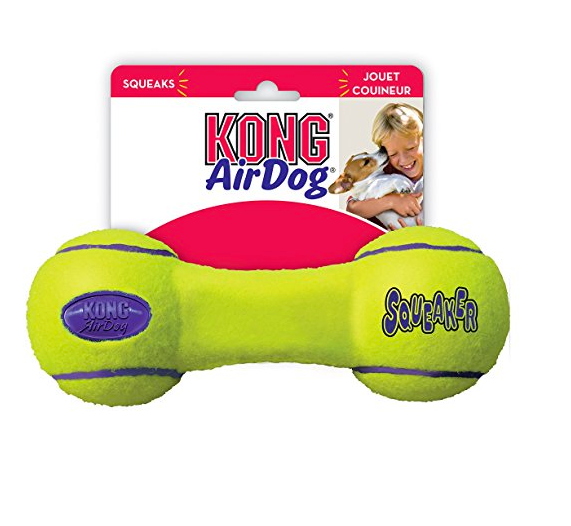 Dumbbell Tennis Ball Squeaker Dog Toy by Kong