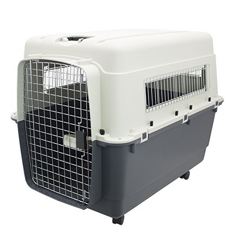 Airline Approved Dog Kennel by SportPet - Plastic/Wire - Assorted Sizes