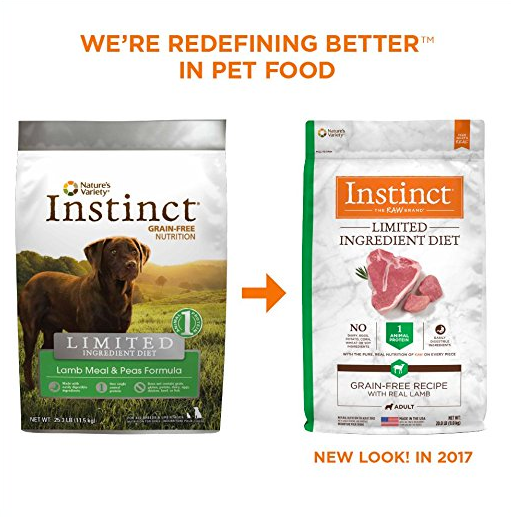 Grain-Free Dog Food without Corn by Nature's Variety - Instinct