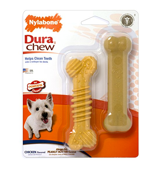 Ribbed Bone Chew Toy for Dogs by Nylabone