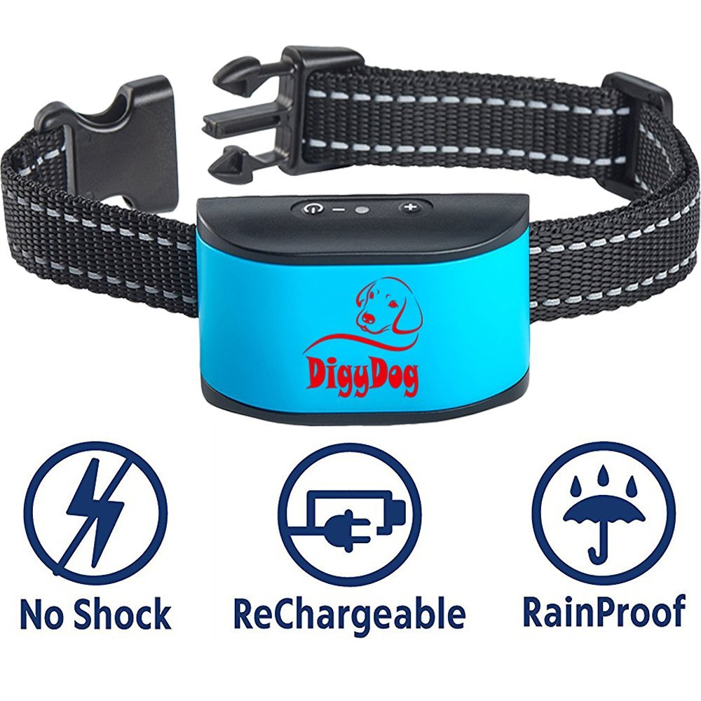 RECHARGEABLE No Bark Collar for dogs - NO SHOCK Safe Bark Control Training Collar