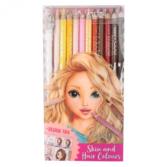 TOPModel Colouring Pencils - Skin & Hair Colours