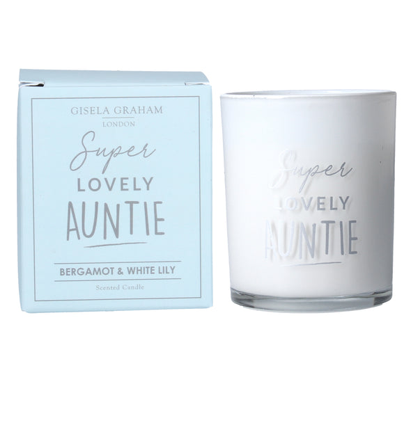Lovely Auntie Giftboxed Candle
