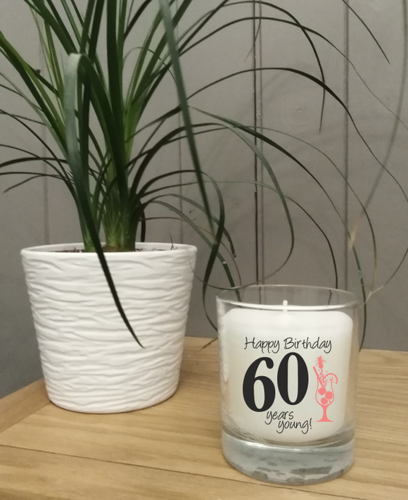 Age 60 Birthday Candle