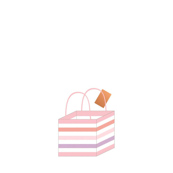 Pastel Pink Stripes  Bag