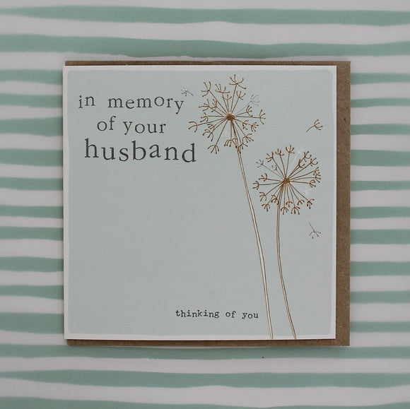 Memory of Husband Card