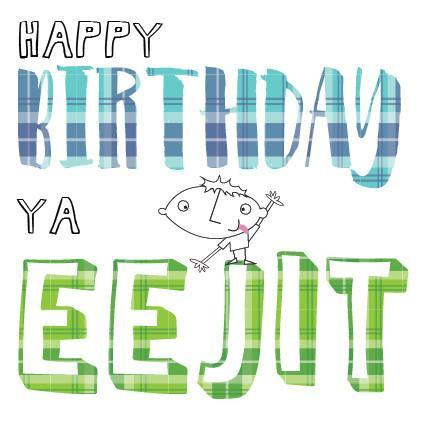 Birthday Eejit Card