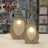 Wooden Gonk with LED Nose (lge)