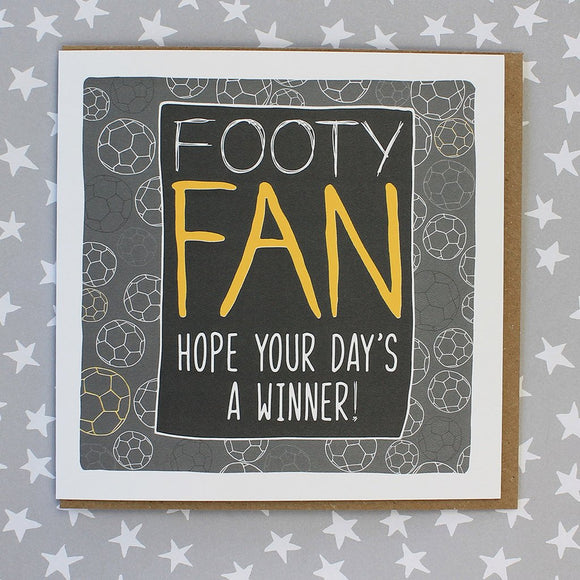 Football Fan Card