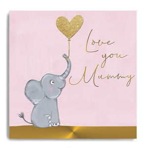 Love Mummy Elephant Card