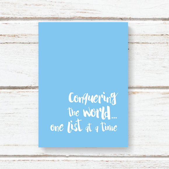 One List at a Time Notebook (A6)