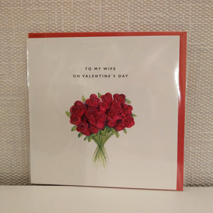 Wife Bouquet Card