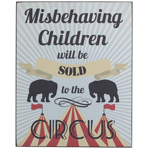 Misbehaving Children Sign