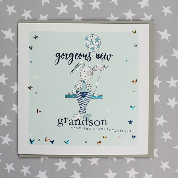 Gorgeous New Grandson Card