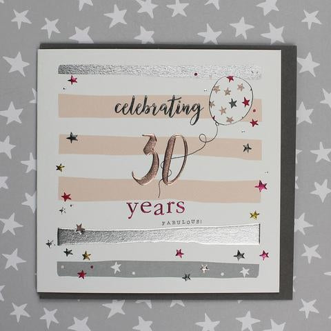 Celebrating 30th Birthday Female Card