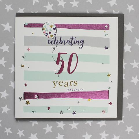 Celebrating 50th Birthday Female Card