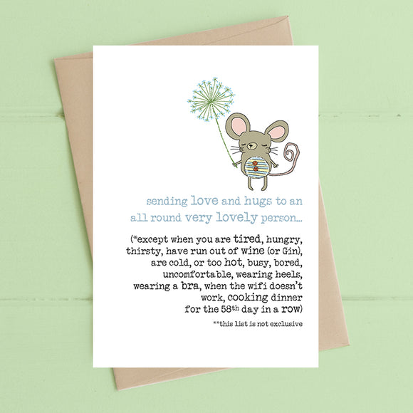 Lovely Pleasant Person Card