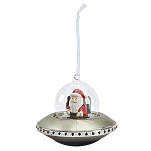 Retro Decoration - Santa in Flying Saucer