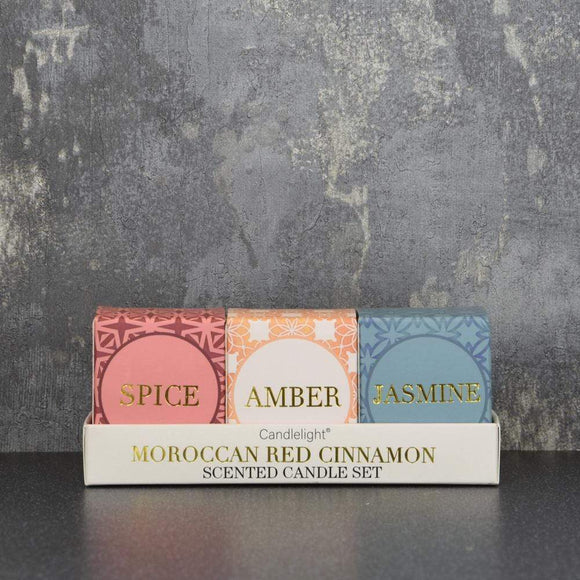Votive Candle Gift Set - Moroccan Red Cinnamon