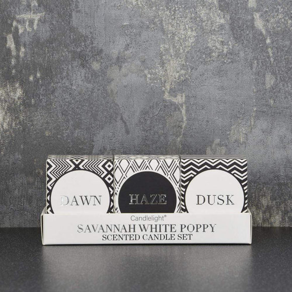 Votive Candle Gift Set - Savannah White Poppy