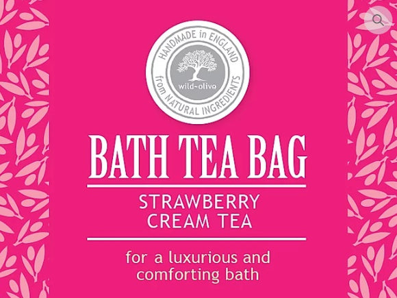 Bath Tea Bag - Strawberry Cream Tea