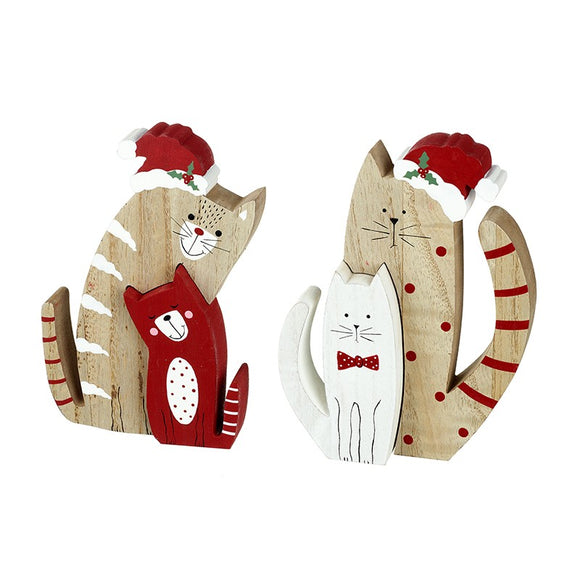 Cat Block Ornaments