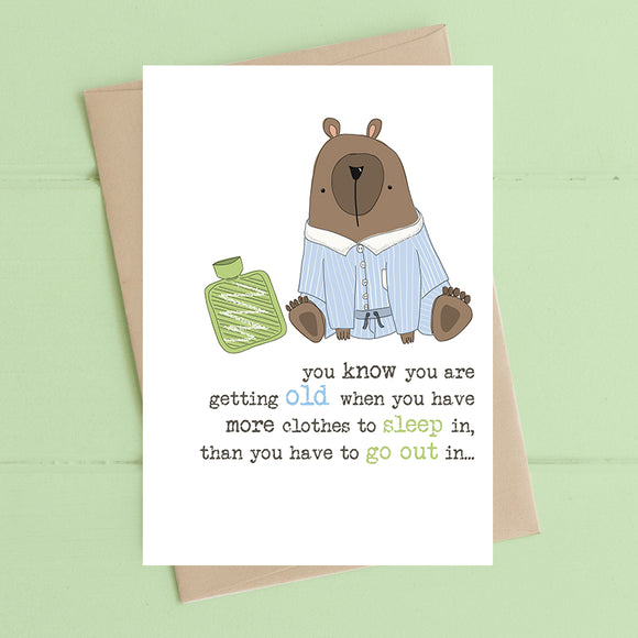 Clothes Sleep in Card