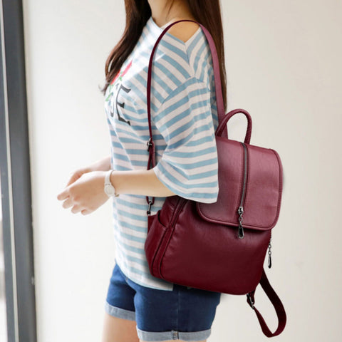 Serena Leather backpack - MyExquisite bags