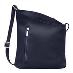 Crossbody Bag Dulce Slanted Leather Shoulder / Crossbody bag with Silver Hardware - Lots of Colour Choices - MyExquisite...