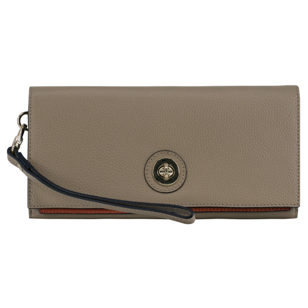 Genevieve Premium Italian Leather Clutch Handbag