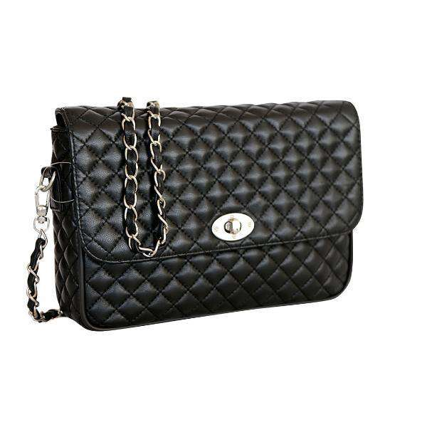 Quilted Leather Shoulder Crossbody Bag-MyExquisite...-MyExquisite...
