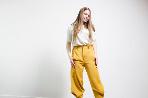 Muted Yellow Trousers
