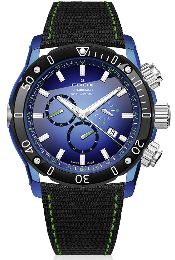 Edox Chronoffshore-1 Sharkman 1 Limited Edition 10221 357BU BUV