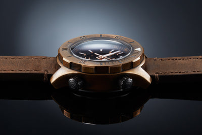 Zelos Abyss Brown Dial